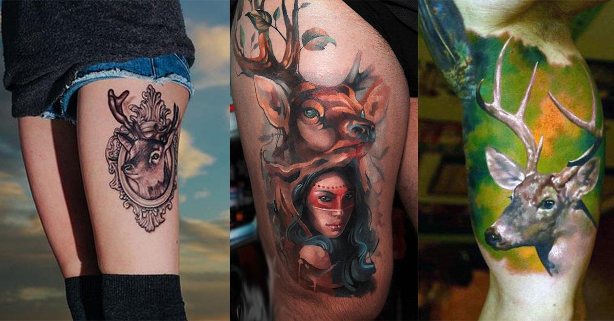 89 Ideas para Tatuajes de Ciervos (+Significado) 61