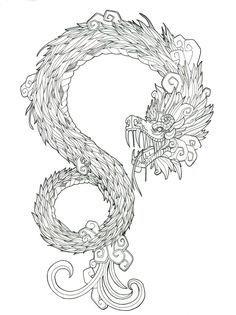 Los mejores Tatuajes de Quetzalcoatl (Serpiente emplumada) 30