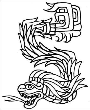 Los mejores Tatuajes de Quetzalcoatl (Serpiente emplumada) 31