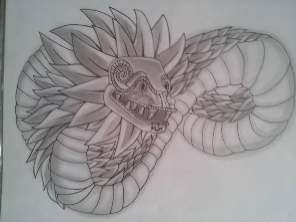 Los mejores Tatuajes de Quetzalcoatl (Serpiente emplumada) 32