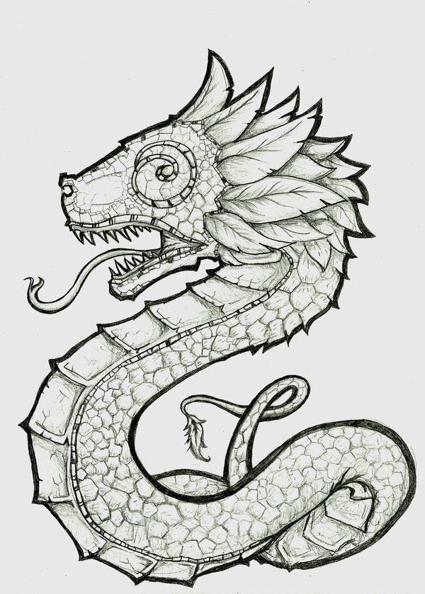 Los mejores Tatuajes de Quetzalcoatl (Serpiente emplumada) 34