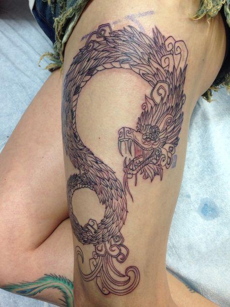Los mejores Tatuajes de Quetzalcoatl (Serpiente emplumada) 9