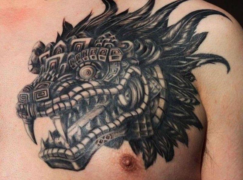 Los mejores Tatuajes de Quetzalcoatl (Serpiente emplumada) 11