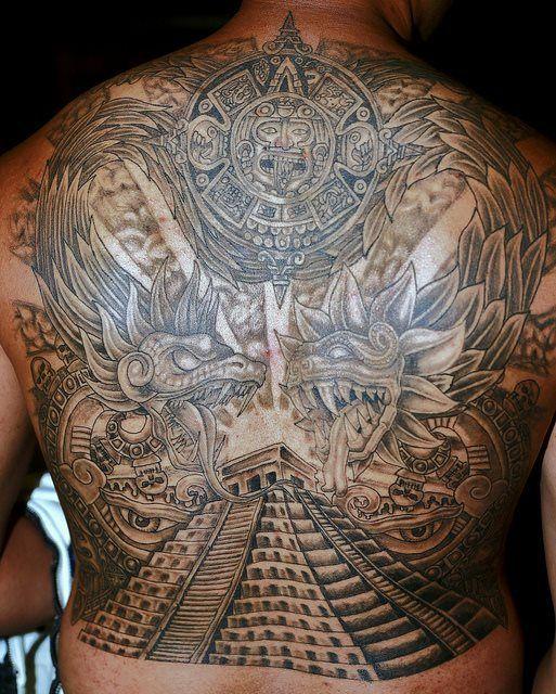 Los mejores Tatuajes de Quetzalcoatl (Serpiente emplumada) 20