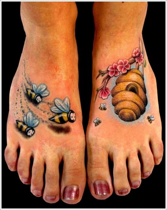 52 Ideas para Tatuajes de Abejas con Significado 35