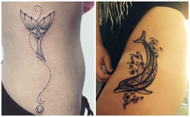 72 Ideas con Tatuajes de Delfines (+Significados) 74
