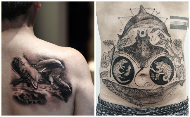 72 Ideas con Tatuajes de Delfines (+Significados) 65