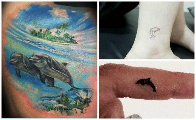 72 Ideas con Tatuajes de Delfines (+Significados) 67