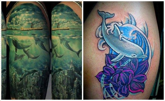 72 Ideas con Tatuajes de Delfines (+Significados) 68