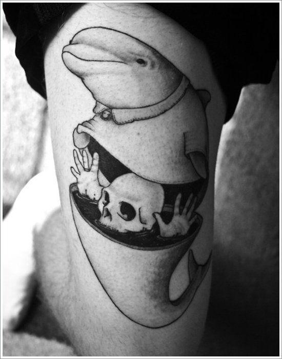 72 Ideas con Tatuajes de Delfines (+Significados) 62