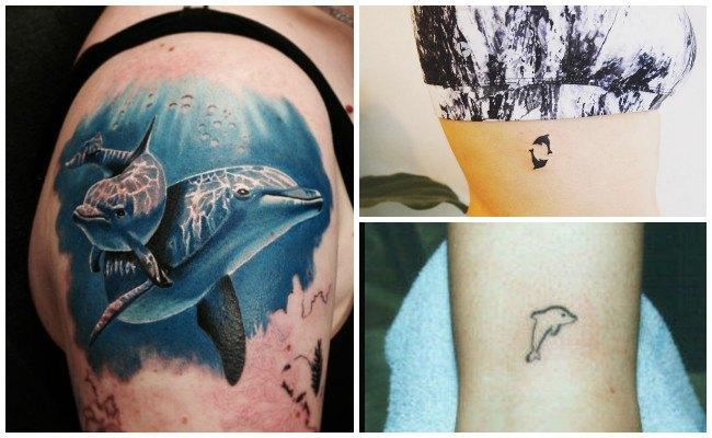 72 Ideas con Tatuajes de Delfines (+Significados) 69