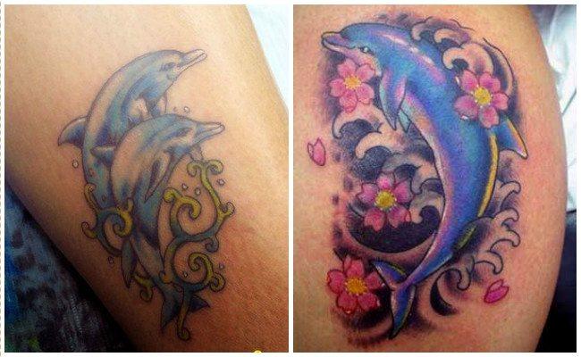72 Ideas con Tatuajes de Delfines (+Significados) 71