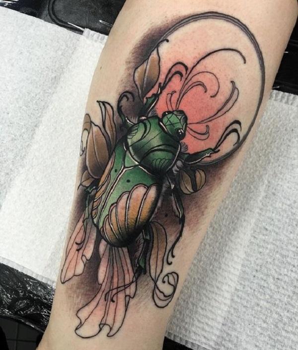 62 Ideas de Tatuajes de Escarabajos (+Significados) 39