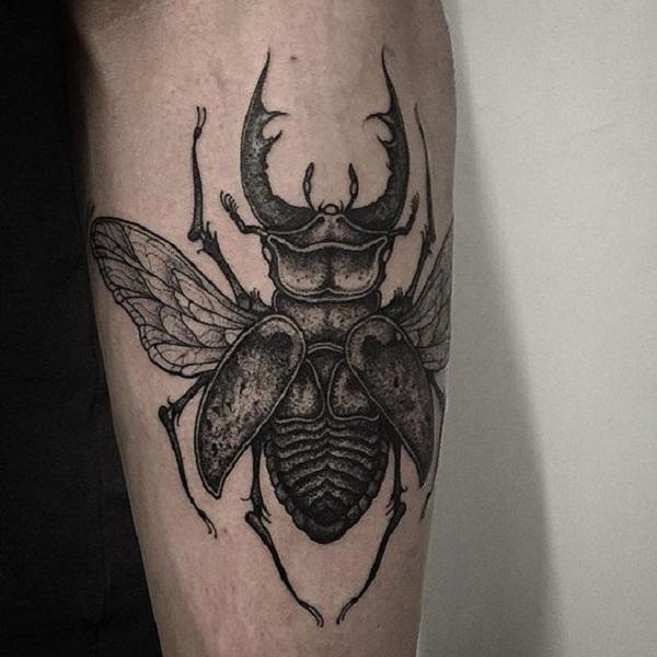 62 Ideas de Tatuajes de Escarabajos (+Significados) 50