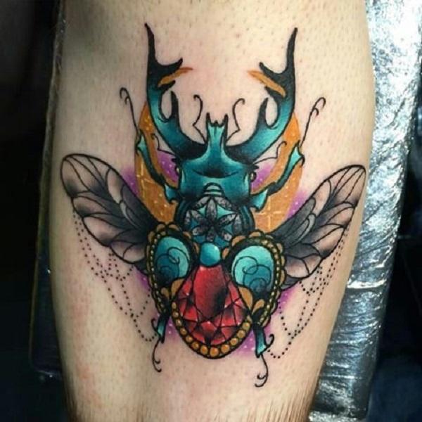 62 Ideas de Tatuajes de Escarabajos (+Significados) 51