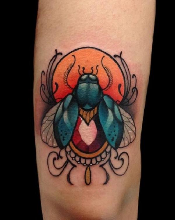 62 Ideas de Tatuajes de Escarabajos (+Significados) 41