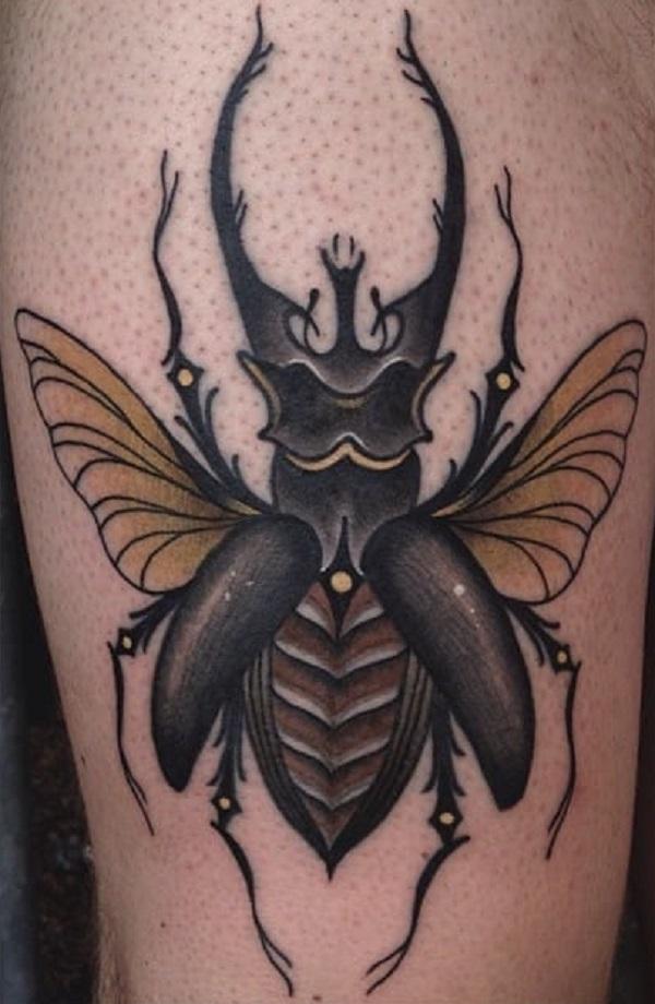 62 Ideas de Tatuajes de Escarabajos (+Significados) 43