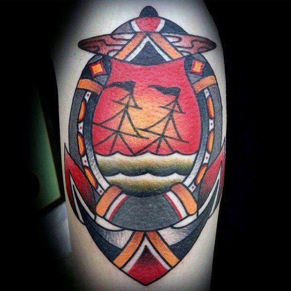 78 Ideas para Tatuajes de Herraduras (+Significado) 65