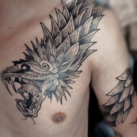 Los mejores Tatuajes de Quetzalcoatl (Serpiente emplumada) 19