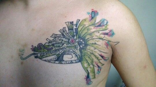 Los mejores Tatuajes de Quetzalcoatl (Serpiente emplumada) 25