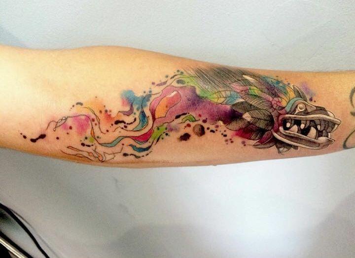 Los mejores Tatuajes de Quetzalcoatl (Serpiente emplumada) 27