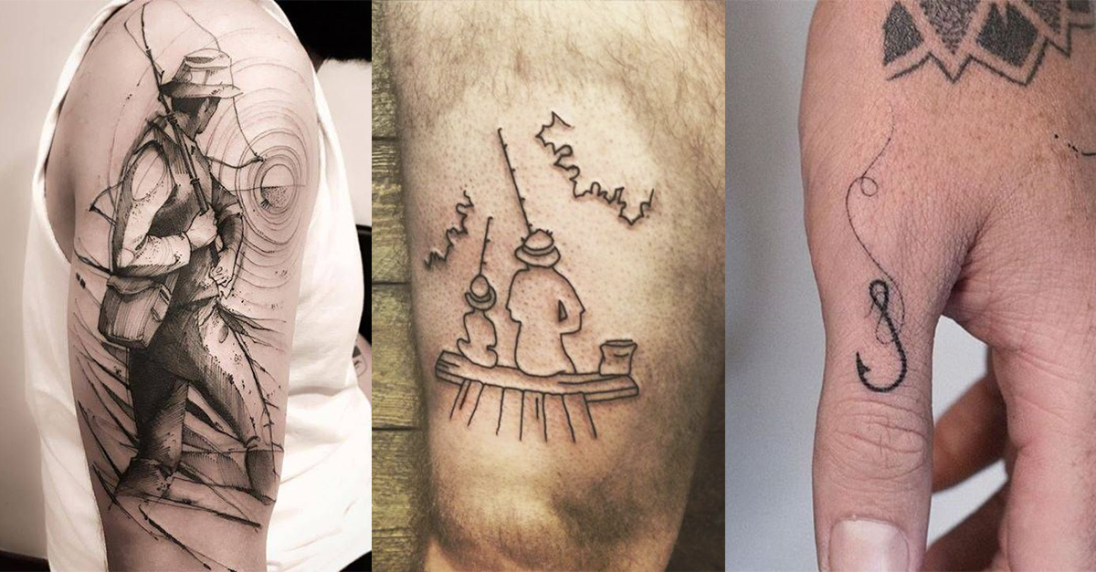 Ideas para Tatuajes de Pesca y Anzuelos 60
