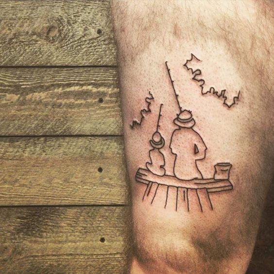 Ideas para Tatuajes de Pesca y Anzuelos 33