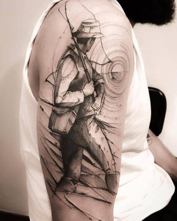 Ideas para Tatuajes de Pesca y Anzuelos 2