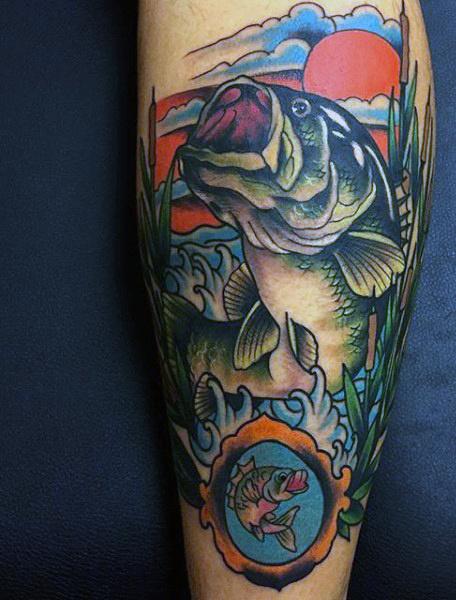 Ideas para Tatuajes de Pesca y Anzuelos 41