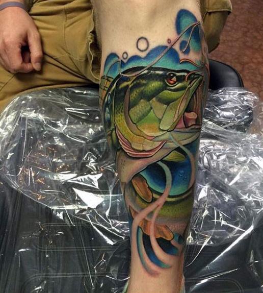 Ideas para Tatuajes de Pesca y Anzuelos 46