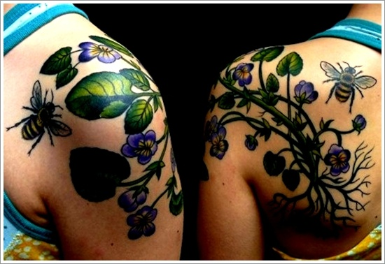 52 Ideas para Tatuajes de Abejas con Significado 8