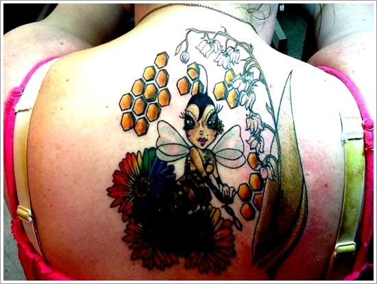 52 Ideas para Tatuajes de Abejas con Significado 15