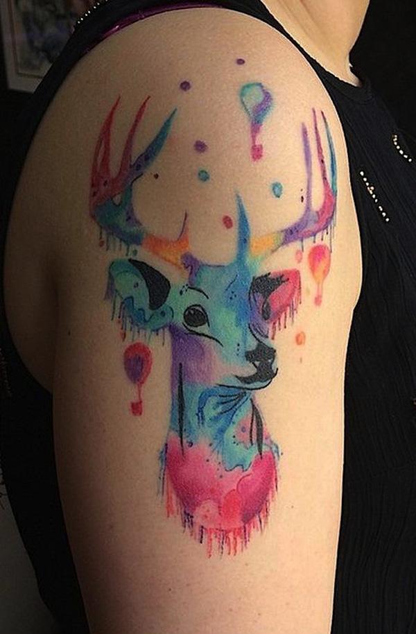 89 Ideas para Tatuajes de Ciervos (+Significado) 78