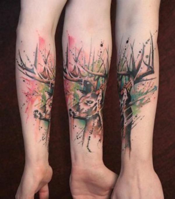 89 Ideas para Tatuajes de Ciervos (+Significado) 80