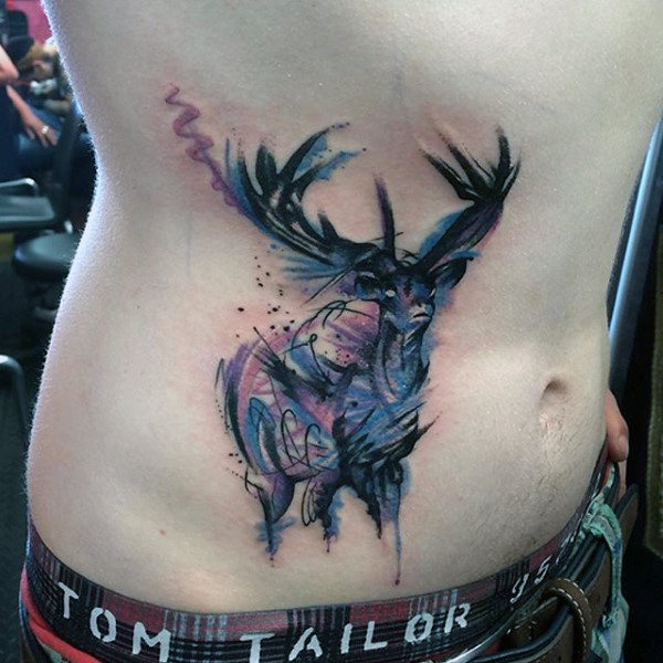 89 Ideas para Tatuajes de Ciervos (+Significado) 81