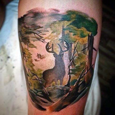 89 Ideas para Tatuajes de Ciervos (+Significado) 82