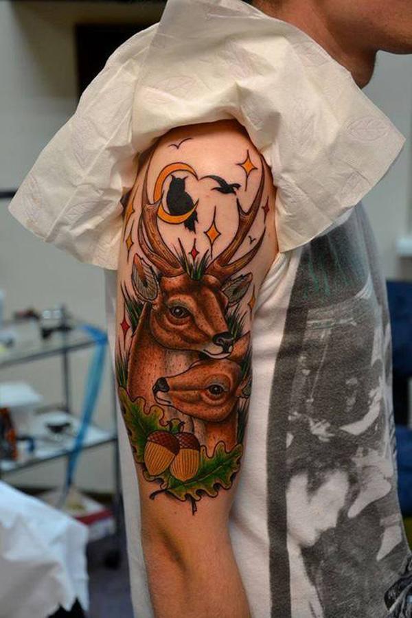 89 Ideas para Tatuajes de Ciervos (+Significado) 30