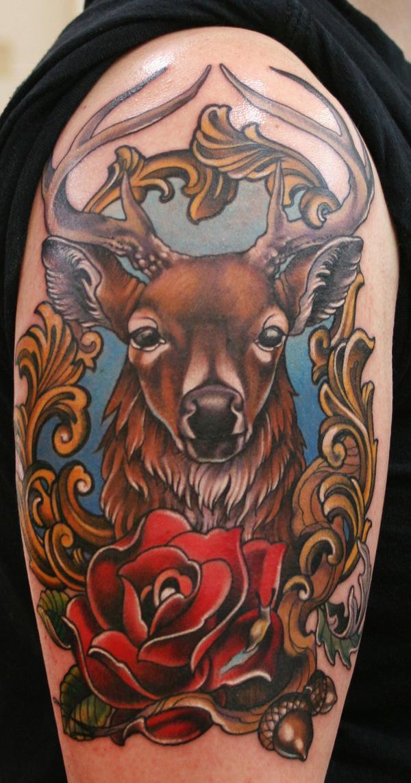 89 Ideas para Tatuajes de Ciervos (+Significado) 31