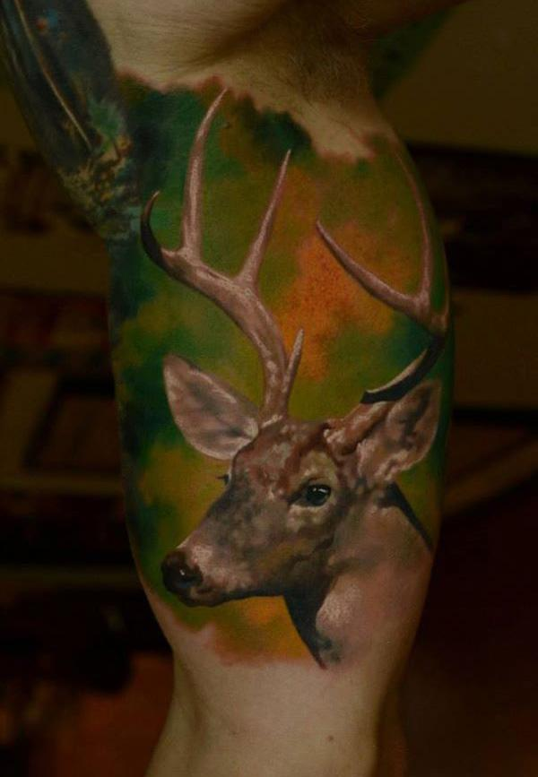 89 Ideas para Tatuajes de Ciervos (+Significado) 33