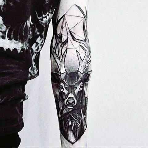 89 Ideas para Tatuajes de Ciervos (+Significado) 34