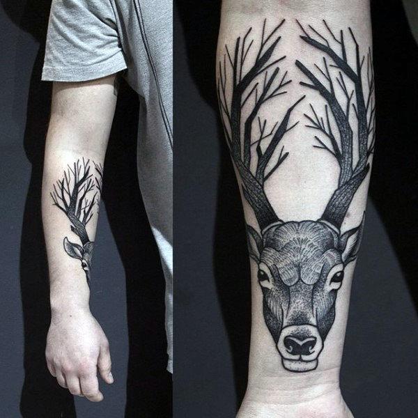 89 Ideas para Tatuajes de Ciervos (+Significado) 35