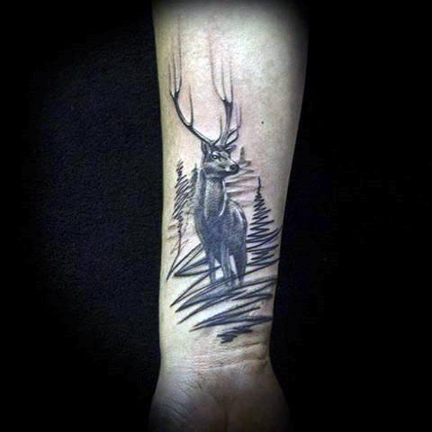 89 Ideas para Tatuajes de Ciervos (+Significado) 36