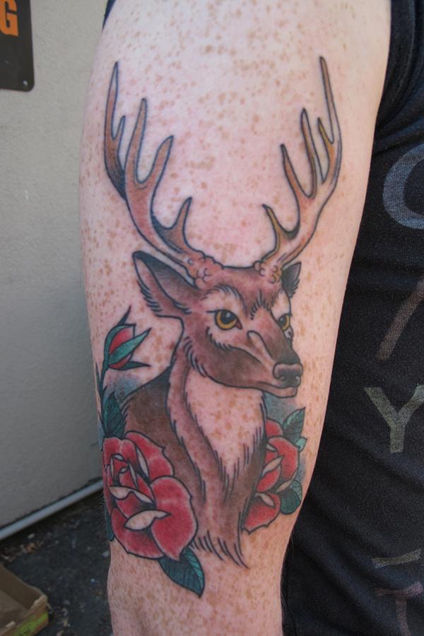 89 Ideas para Tatuajes de Ciervos (+Significado) 64