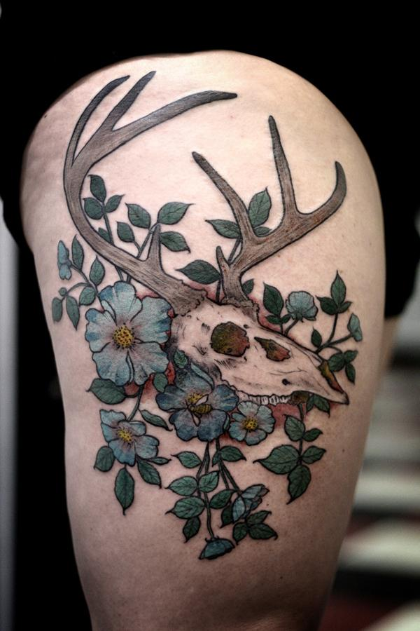 89 Ideas para Tatuajes de Ciervos (+Significado) 65