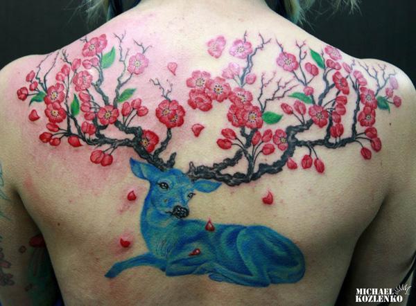 89 Ideas para Tatuajes de Ciervos (+Significado) 66