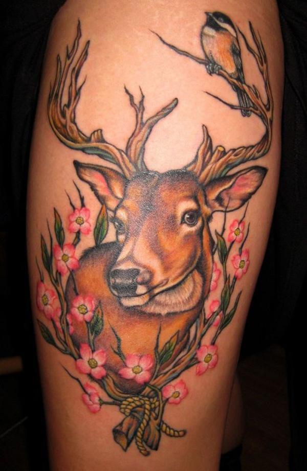 89 Ideas para Tatuajes de Ciervos (+Significado) 69