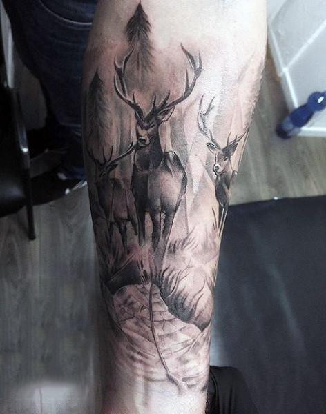 89 Ideas para Tatuajes de Ciervos (+Significado) 2