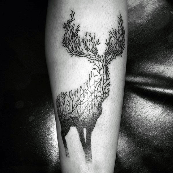 89 Ideas para Tatuajes de Ciervos (+Significado) 3