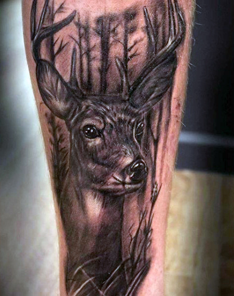 89 Ideas para Tatuajes de Ciervos (+Significado) 7