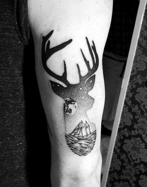 89 Ideas para Tatuajes de Ciervos (+Significado) 8